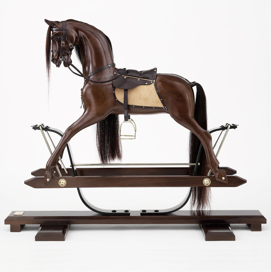American Black Walnut Rocking Horse - Home Decor - pucciManuli