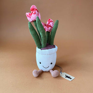 tulip-plant-in-beige-pot-with-smiley-face