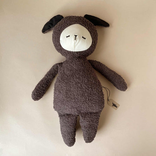 Big Organic Cotton Buddy Doll | Black Sheep - Stuffed Animals - pucciManuli
