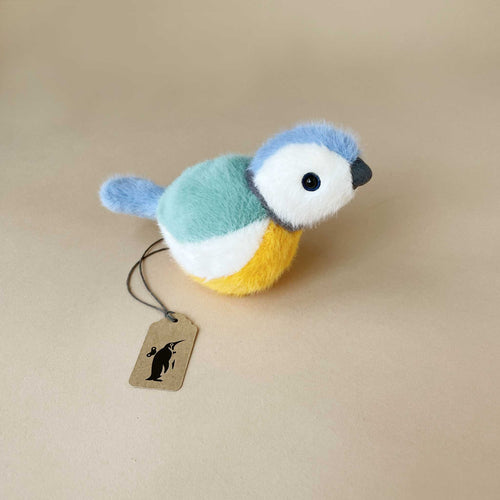 birdling-blue-tit-stuffed-animal-with-green-blue-mustard-and-white-swoops-of-color
