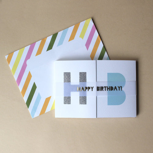 Birthday Banner Greeting Card - Party - pucciManuli
