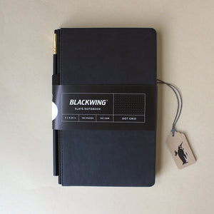 Black Slate Dot Grid Notebook - Stationery - pucciManuli