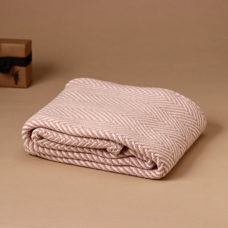 Blush Herringbone Baby Blanket - Blankets/Throws - pucciManuli