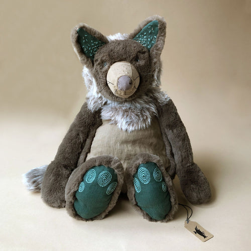 Brindille the Wolf | Medium - Stuffed Animals - pucciManuli