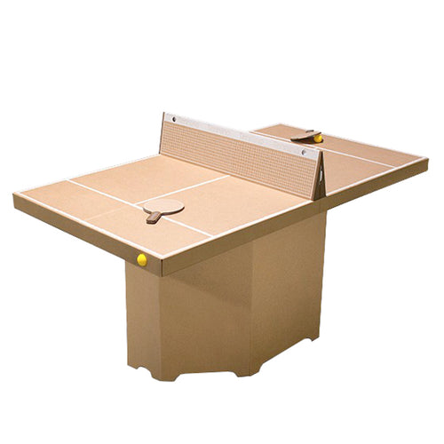 cardboard-table-tennis-game-assembled-with-base-playing-top-cardboard-net-and-two-paddles-with-yellow-balls