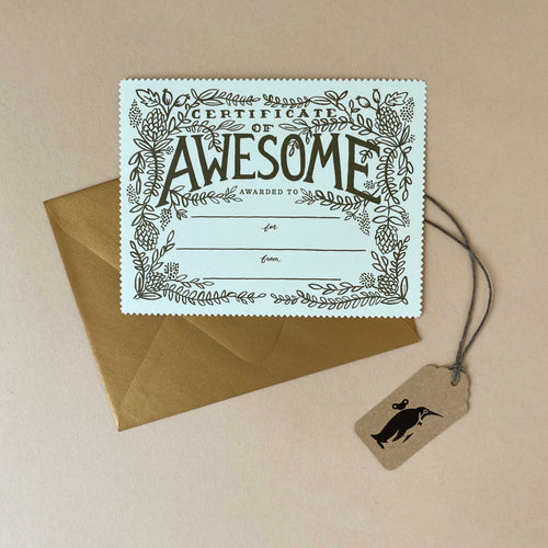 Certificate of Awesome Greeting Card - Greeting Cards - pucciManuli