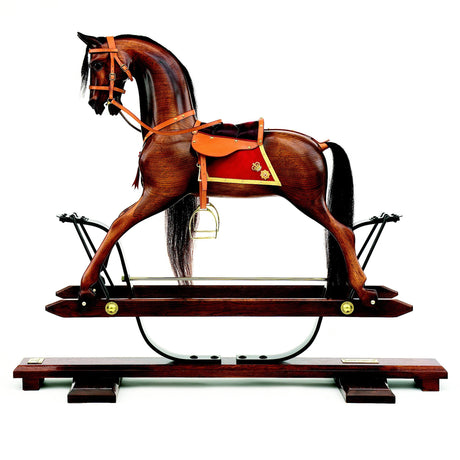 Chestnut Rocking Horse - Home Decor - pucciManuli