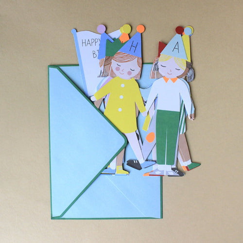 Concertina Greeting Card | Party Children - Greeting Cards - pucciManuli