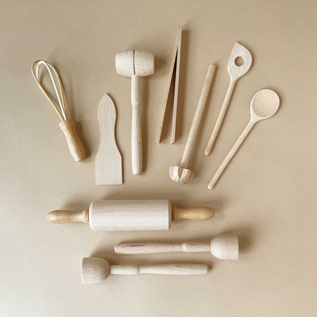 Children's Cooking Utensil Set - Pretend Play - pucciManuli