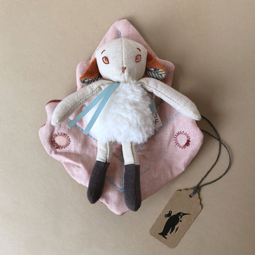 Petit Châtaigne Sheep with Leaf Blanket - Stuffed Animals - pucciManuli