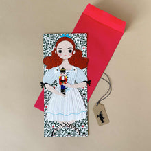 Load image into Gallery viewer, Clara Paper Doll with Envelope - Greeting Cards - pucciManuli