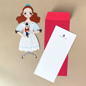 Clara Paper Doll with Envelope - Greeting Cards - pucciManuli
