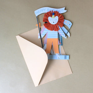 Concertina Greeting Card | Party Animals - Greeting Cards - pucciManuli