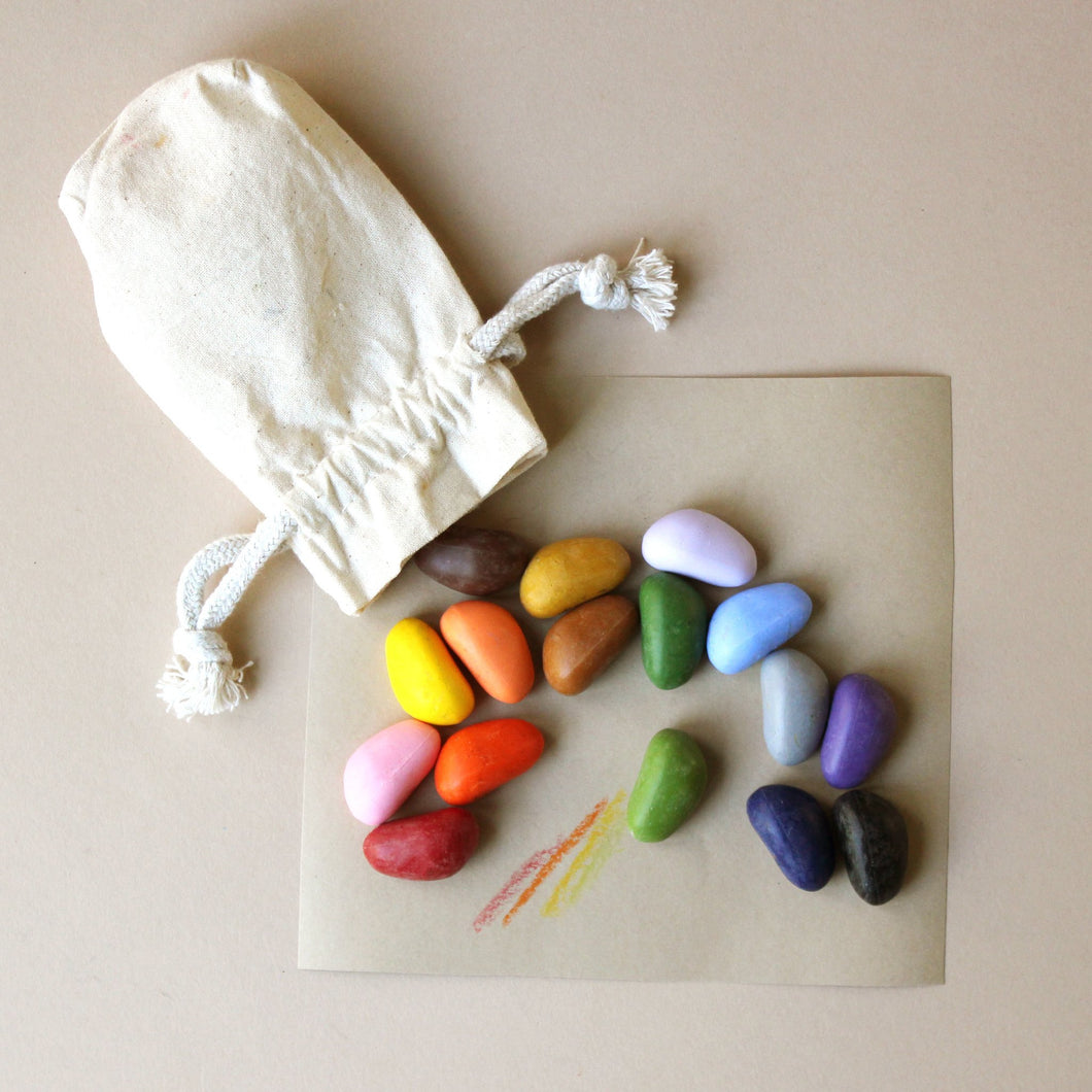 Crayon Rocks | 16 Colors in Muslin Bag - Arts & Crafts - pucciManuli