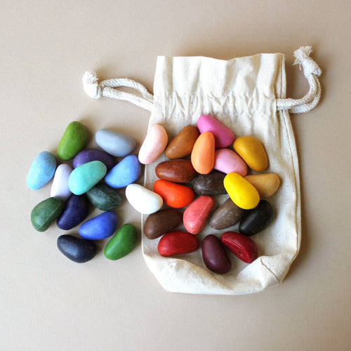 Crayon Rocks | 32 Colors in Muslin Bag - Arts & Crafts - pucciManuli