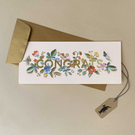 Cut Paper Congrats No. 10 Greeting Card - Greeting Cards - pucciManuli