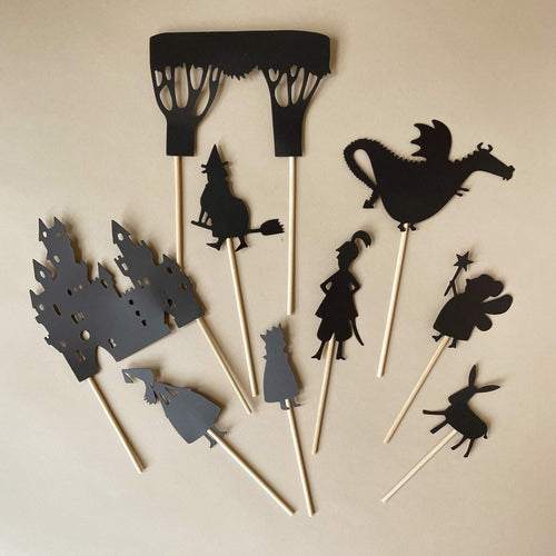 Enchanted Forest Shadow Puppet Set - Pretend Play - pucciManuli
