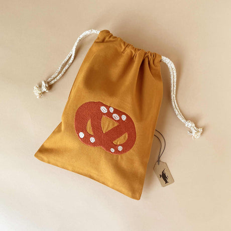 Fabric Embroidered Gift Bag | Pretzel - Totes/Bags - pucciManuli
