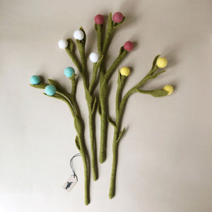 Felted Billy Buttons Flower - Home Decor - pucciManuli