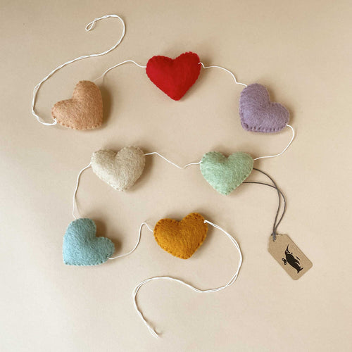 Felted Heart Garland | Rainbow - Home Decor - pucciManuli