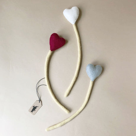 Felted Heart Stem - Home Decor - pucciManuli