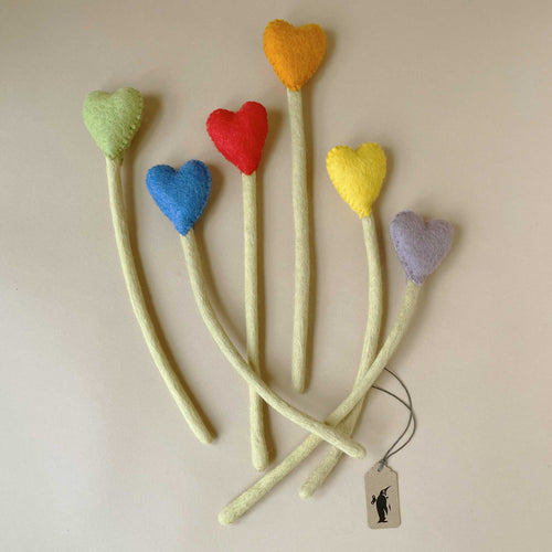 felted-heart-stem-flowres-in-various-colors-with-light-green-stems