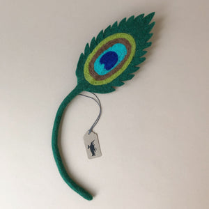 Felted Peacock Leaf - Home Decor - pucciManuli