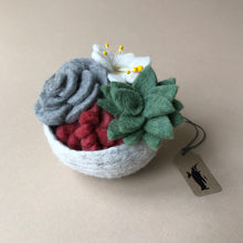 Load image into Gallery viewer, Felted Succulent Bowl - Home Decor - pucciManuli