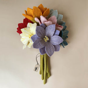 felted-wildflower-bouquet-with-purple-red-orange-pink-white-and-blue-flowers-with-moss-green-stems