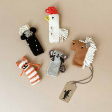 Load image into Gallery viewer, Hand Knit Finger Puppets (Sets of 5) - Puppets - pucciManuli