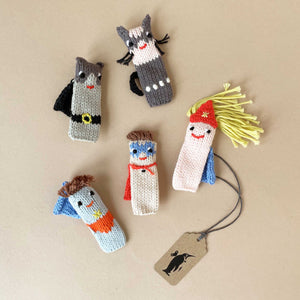 Hand Knit Finger Puppets (Sets of 5) - Puppets - pucciManuli