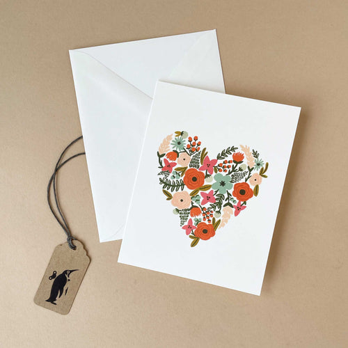 Floral Heart Greeting Card - Greeting Cards - pucciManuli