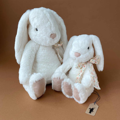 Fluffy Bunny | White - Stuffed Animals - pucciManuli