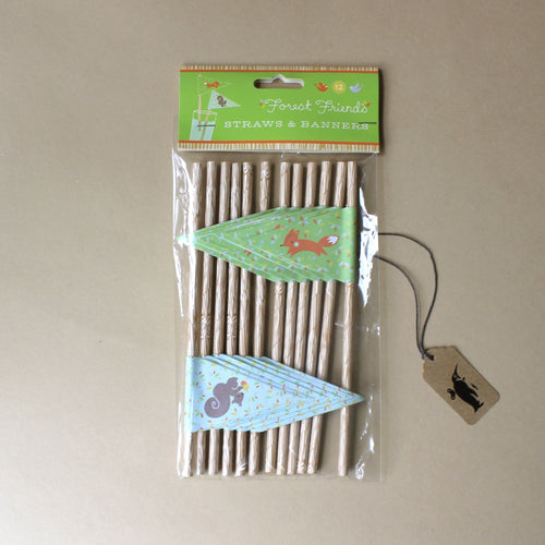 Forest Friends Straws & Banners - Party - pucciManuli