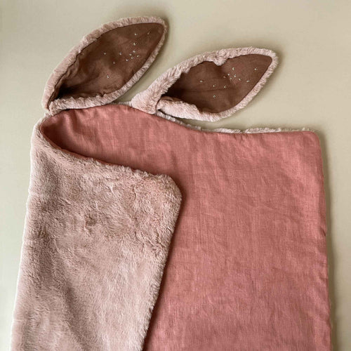 Fuzzy Rose Rabbit Blanket - Blankets/Throws - pucciManuli