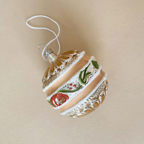 German Glass Ornament | Flower Stripe - Christmas - pucciManuli