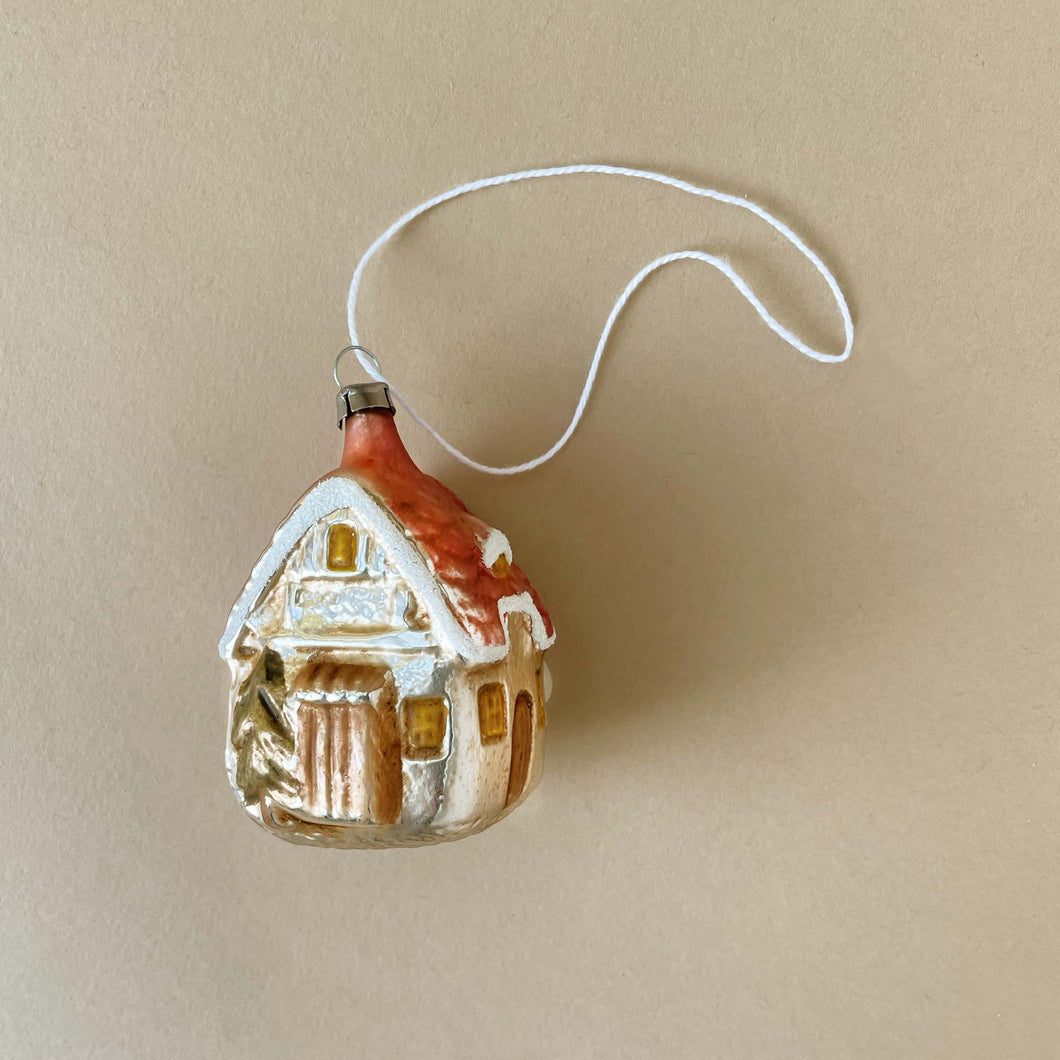 German Glass Ornament | Forest House - Christmas - pucciManuli