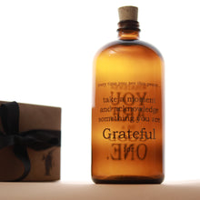 Load image into Gallery viewer, Gratitude Apothecary Jar | Amber & Black - Home Decor - pucciManuli