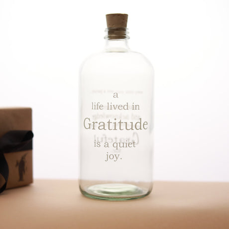 Gratitude Apothecary Jar | Clear & White - Home Decor - pucciManuli
