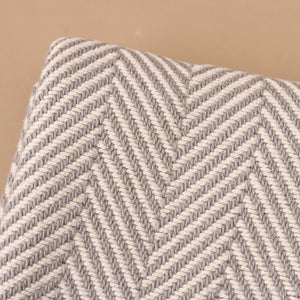 Grey Herringbone Baby Blanket - Blankets/Throws - pucciManuli