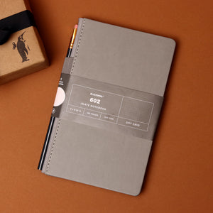 Grey Slate Dot Grid Notebook - Stationary - pucciManuli