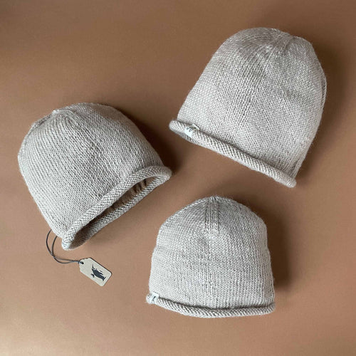 Hand-Knit Beige Hunter Hat - Accessories - pucciManuli