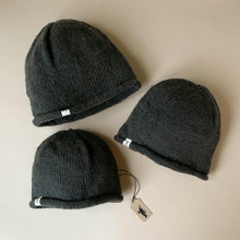 Load image into Gallery viewer, Hand-Knit Dark Grey Hunter Hat - Accessories - pucciManuli