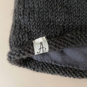 Hand-Knit Dark Grey Hunter Hat - Accessories - pucciManuli