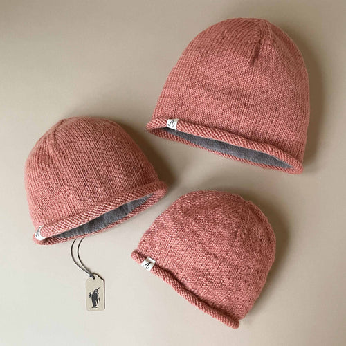 Hand-Knit Pink Hunter Hat - Accessories - pucciManuli