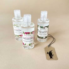 Load image into Gallery viewer, three-small-hand-sanitizer-gel-bottles