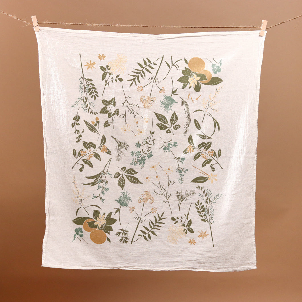 Herbal Tea Garden Kitchen Tea Towel - Kitchen - pucciManuli