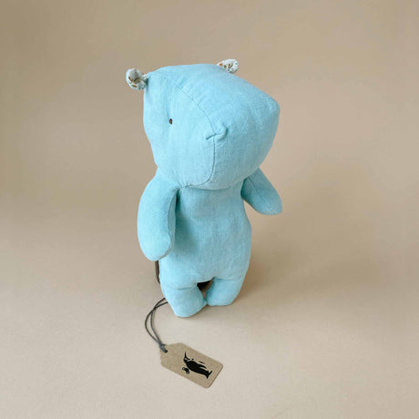 Hippo Safari Friend | Small - Aqua - Stuffed Animals - pucciManuli