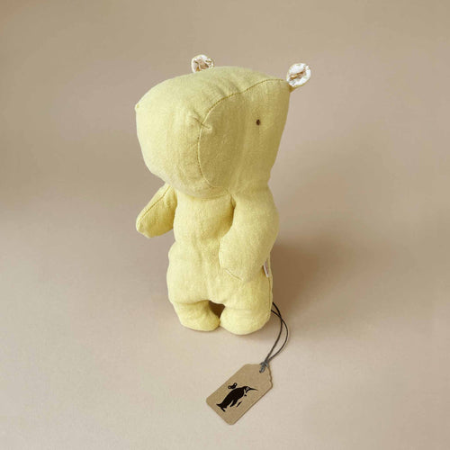 Hippo Safari Friend | Small - Lime Yellow - Stuffed Animals - pucciManuli