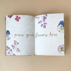 how-to-be-a-wildflower-book-press-your-floiwers-here-page